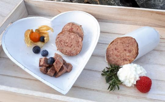 Putenwurst - Pute mit Hirse und Karotten 800 gr.