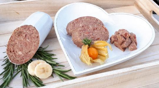 Rinderwurst - Rind mit Kartoffel, Apfel und Hüttenkäse 800 gr.